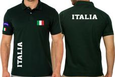 0f5f15da88dba Camiseta Tipo Polo Itália Países Azurra Torcida