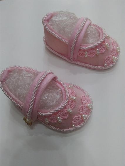 Sapato Saída De Maternidade Trabalho Manual Menina