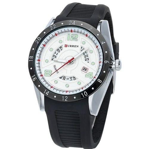 Relógio Masculino Curren Analógico 8142 Preto E Prata