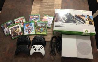 Xbox One 500gb 4 Controles 7 Juegos Extra Cd 1 Juego Consola