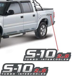 Par De Adesivo Lateral Chevrolet S10 2.8 Turbo Intercooler