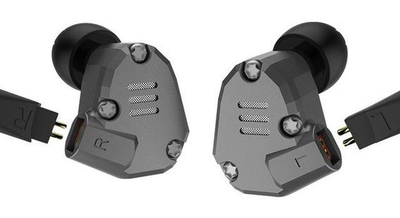 Fone Kz Zs6 S/ Mc + 2 Cabos (profissional E Bluetooth Apt-x)