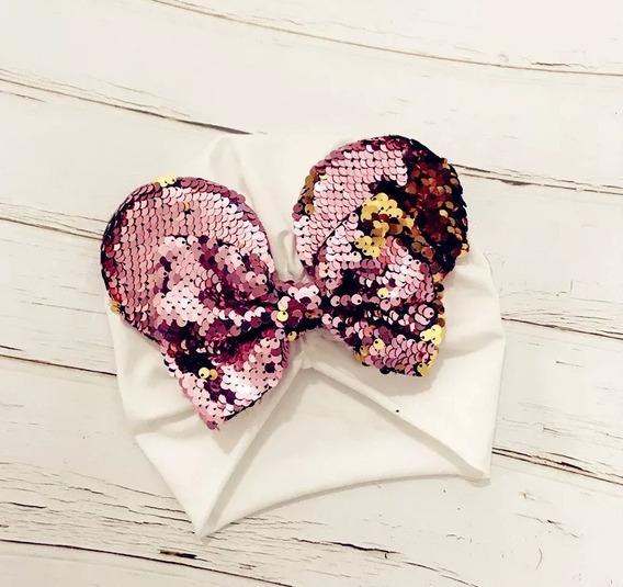 Turbante Para Niñas Y Bebés Con Moño Y Orejas De Minnie