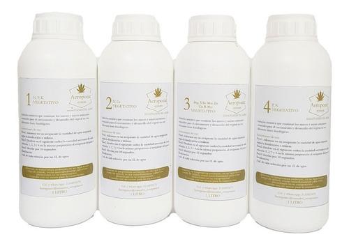 Nutrientes Orgánico Mineral X 4 Litros Floración Aeroponic