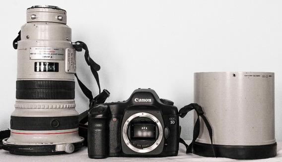 Maq. Fotog. Eos 5d Canon Capa P/ Lent Et-120 Ef 300mm F/2.8l