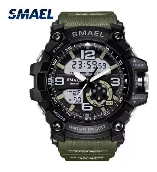 Relógio De Pulso Masculino Militar Smael A Prova De Água