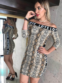 Vestido Strech Leopardo