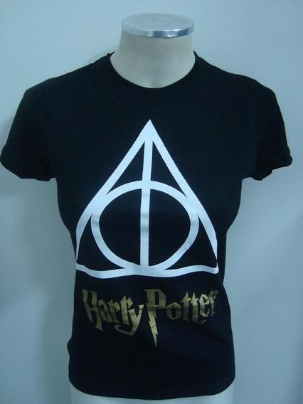 Baby Look Feminina Harry Potter - Relíquias Da Morte