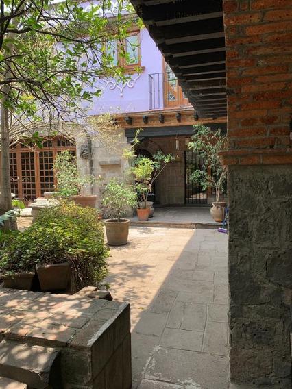 Centro De Coyoacán, Excelente Casa Estilo Colonial, En Renta