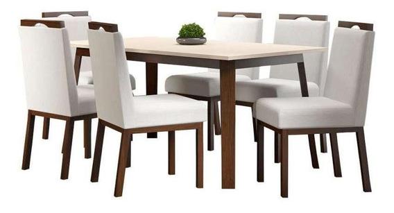 Conjunto De Mesa C/ 6 Cadeiras Croácia - Volttoni