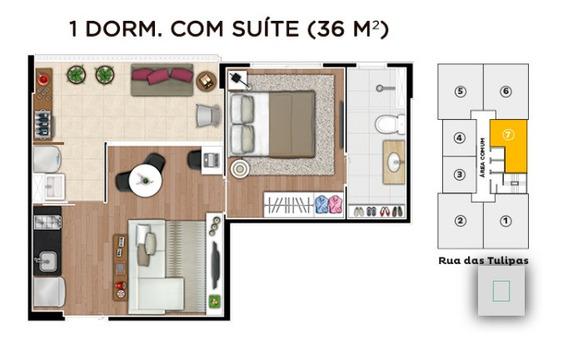 Apartamento De 1 Dormitório (suíte) 36m²