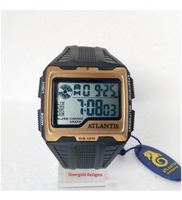Relógio Masculino Atlantis A7472 Digital Original Pv Dágua