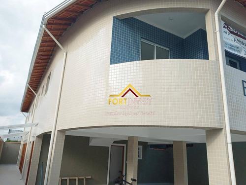 Casa Com 2 Dormitórios À Venda, 49 M² Por R$ 175.000,00 - Jardim Melvi - Praia Grande/sp - Ca0498