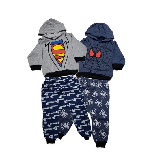 Roupa Bebê Conjunto Inverno Heróis Crianças Oferta