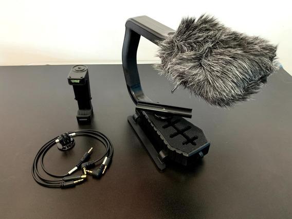Microfone E Suporte Sevenoak Para Dslr, Go Pro, Celular