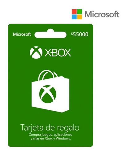 Tarjeta Regalo Xbox $55.000 Región Colombia