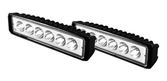 Kit Barras Led Luz Ultra Blanca 18w Faros Focos De Carro Camioneta Iluminación /e