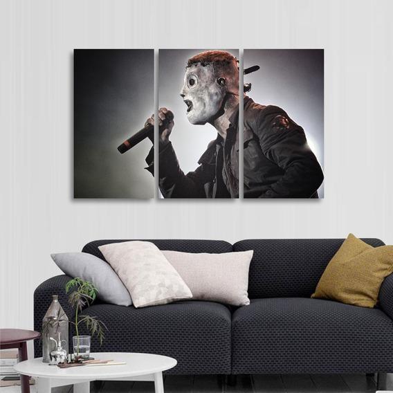 Quadro Decorativo Slipknot Rock Música Em Tecido