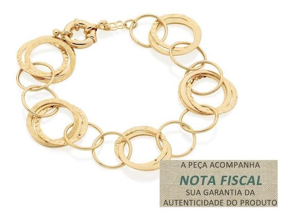Pulseira Círculos Vazados F. Ouro 18k Rommanel 550788