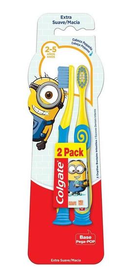 Escova Dental Colgate Minions 2 - 5 Anos 2 Unidades