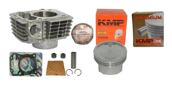 Kit Cilindro Cg 190 Pistão Kmp + Anel Rik Kit Premium