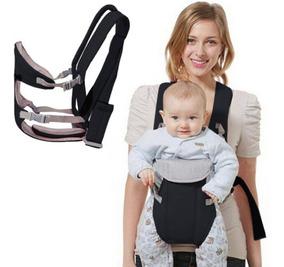 Canguru Para Bebê Até 15kg Luxo Baby Bag Com Babador Preto
