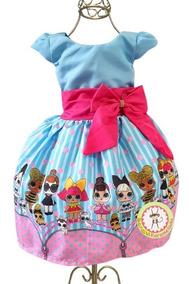 Vestido Lol Surprise Festa Luxo Temático Personagem Infanti