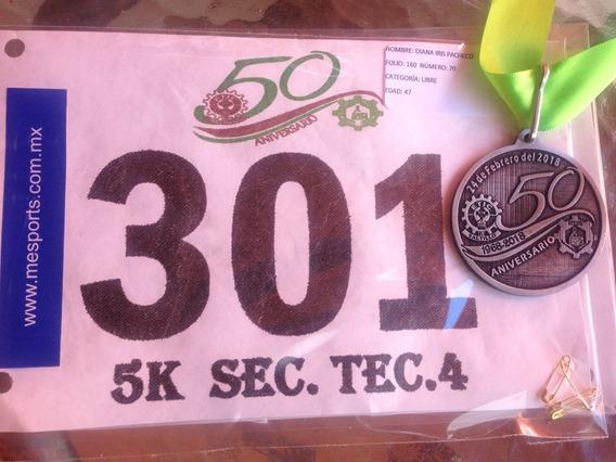 Medallas,playera Dry Fit Sublimada Y Numeros Para Carrera