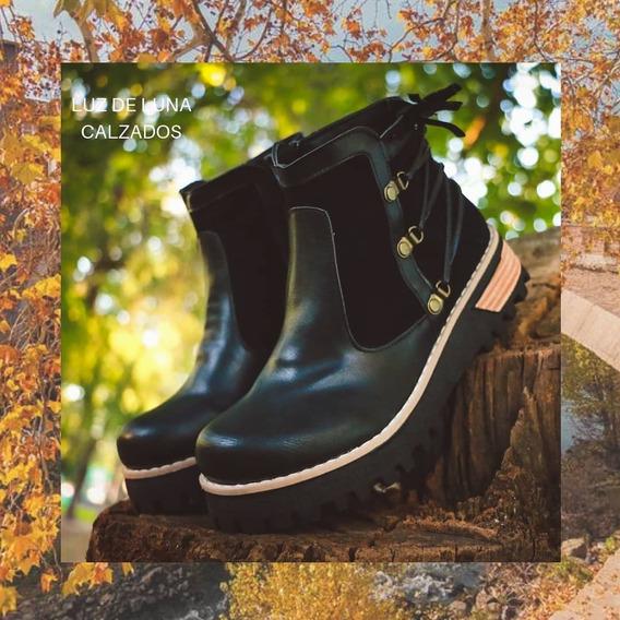 Zapatos Borcegos Botas Botinetas Mujer Plataforma Baja