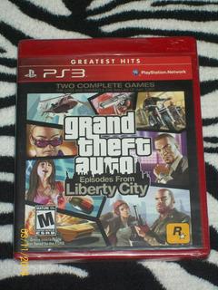 Grand Theft Auto Episodes Liberty City Fisico Y Sellado Ps3