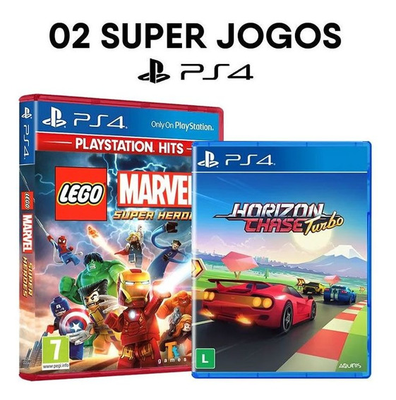 Lego Marvel Super Heroes + Horizon Chase Turbo Ps4 Originais