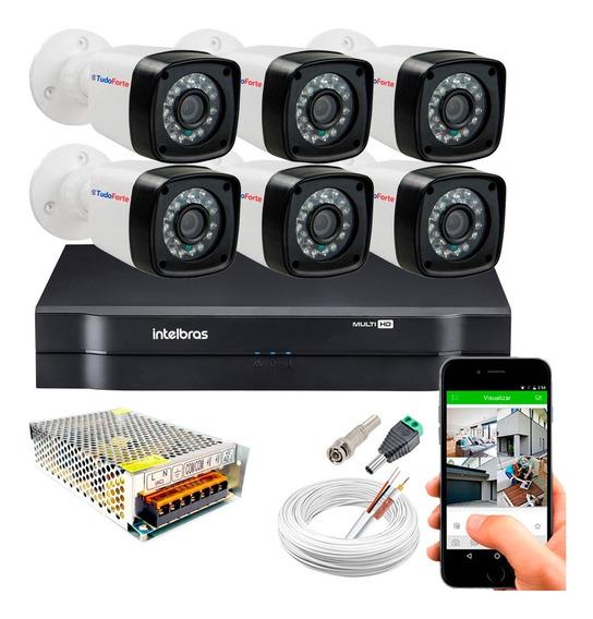 Kir Cftv 6 Cameras Segurança 1080p Full Hd Dvr Intelbras 8ch