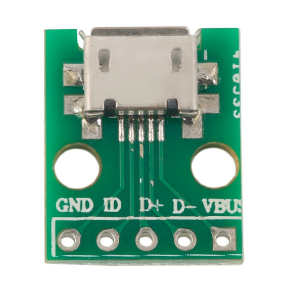 Módulo Adaptador Conector Micro Usb Femea Arduino Pic