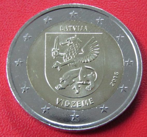 Letonia Moneda 2 Euros 2016 Unc Region Vidzeme