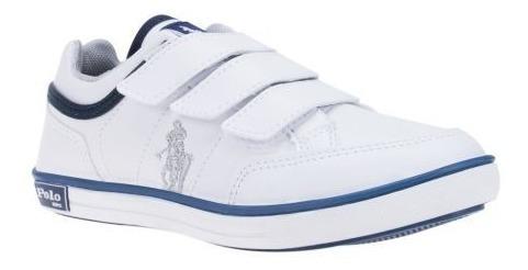Tenis Escolar Niño Hpc Polo Blanco 123909 Sco 19 J