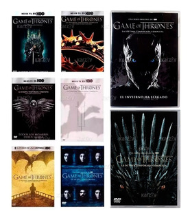 Game Of Thrones Juego Tronos Temporadas 1 2 3 4 5 6 7 8 Dvd