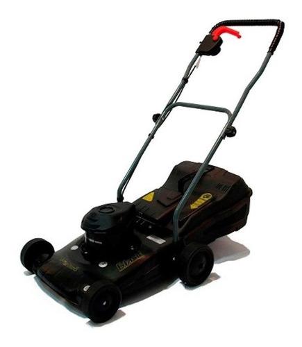 Cortadora de pasto eléctrica Petri 3005092 con bolsa recolectora 1.5 hp negra 220V