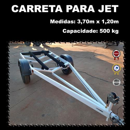 Carreta Reboque P/ Jet Slim - Berço Acarpetado