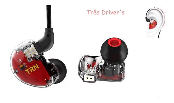 Fone In Ear Trn V30 - Três Drives - Monitor De Palco