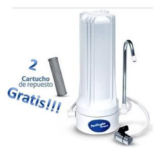 Filtro Purificador De Agua C/cartucho Y 2 Repuestos Gratis