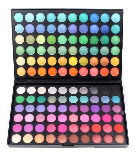 Imagen 1 de 6 de 120 Colores Paleta De Sombras Larga Duración Maquillaje