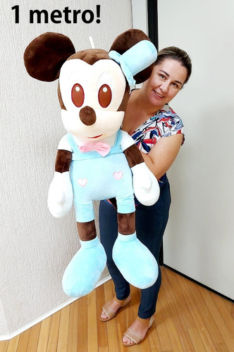 Imagem 1 de 1 de Mickey Bebê Baby Grande Pelúcia Gigante 1 Metro P/ Presente