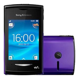 Sony Yendo W150i 5mb 5mb Ram 2g Fm Preto E Roxo Vitrine 1
