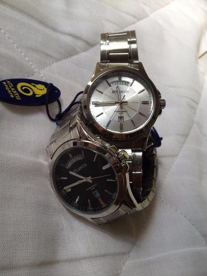 Relógio Atlantis Original Black E Silver Feminino - Lindo!!!