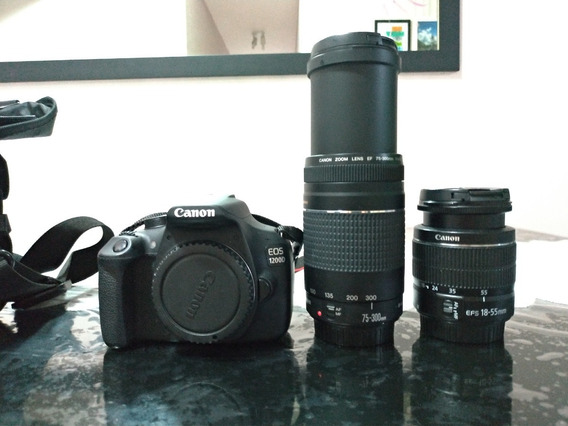 Câmera Fotográfica Canon 1200d Eos + 2 Lentes