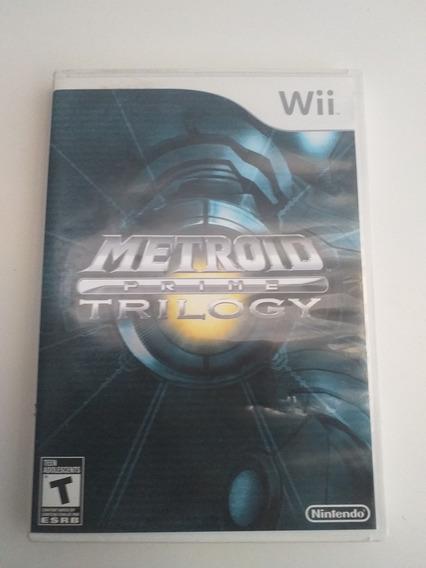 Metroid Trilogy Nintendo Wii Mídia Física Original Raro