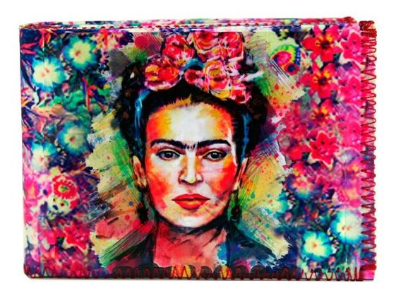 Billetera Frida Kahlo Mujer Con Tarjetero
