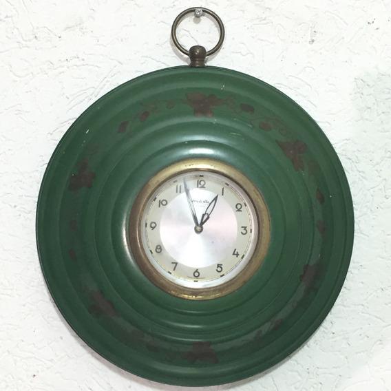 Hermoso Grande Reloj Pared Alemán Forestville 8 Días Cuerda