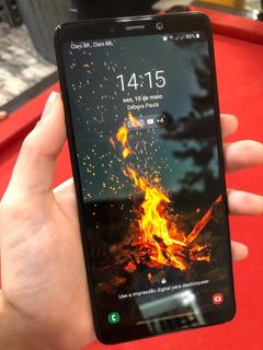 Samsung A9 128gb Preto 4g - 6gb De Ram Tela 6,3