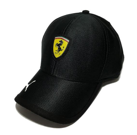 Boné Ferrari Aba Curva - Preto